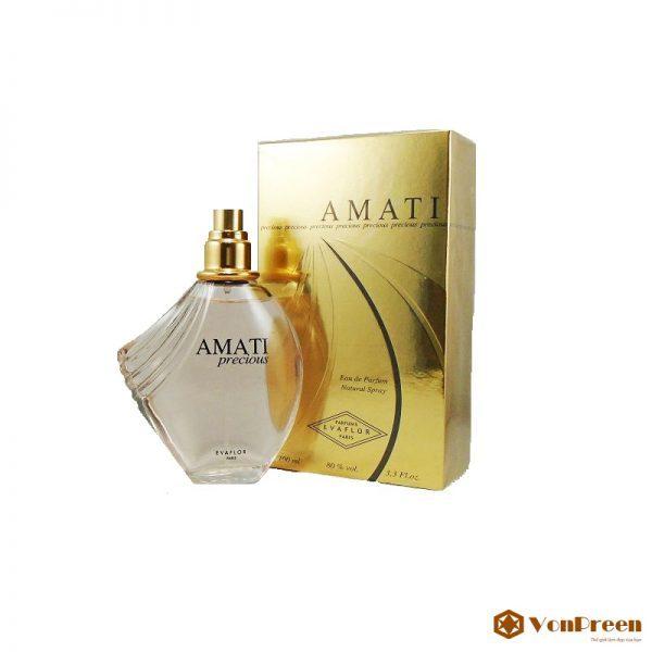 Nước hoa Amati Evaflor Precious, dành cho Nữ, thơm lâu, nhẹ nhàng, chính hãng Pháp, giá rẻ