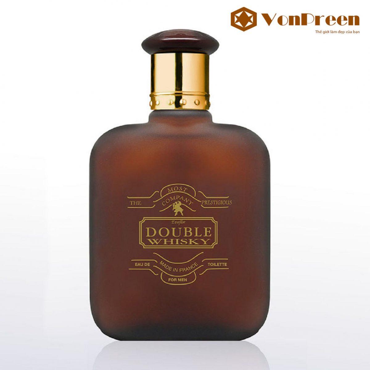 Nước Hoa Double Whisky 100ml, hương thơm gỗ hoa cỏ xạ hương, Nam tính, độc đáo, sang trọng