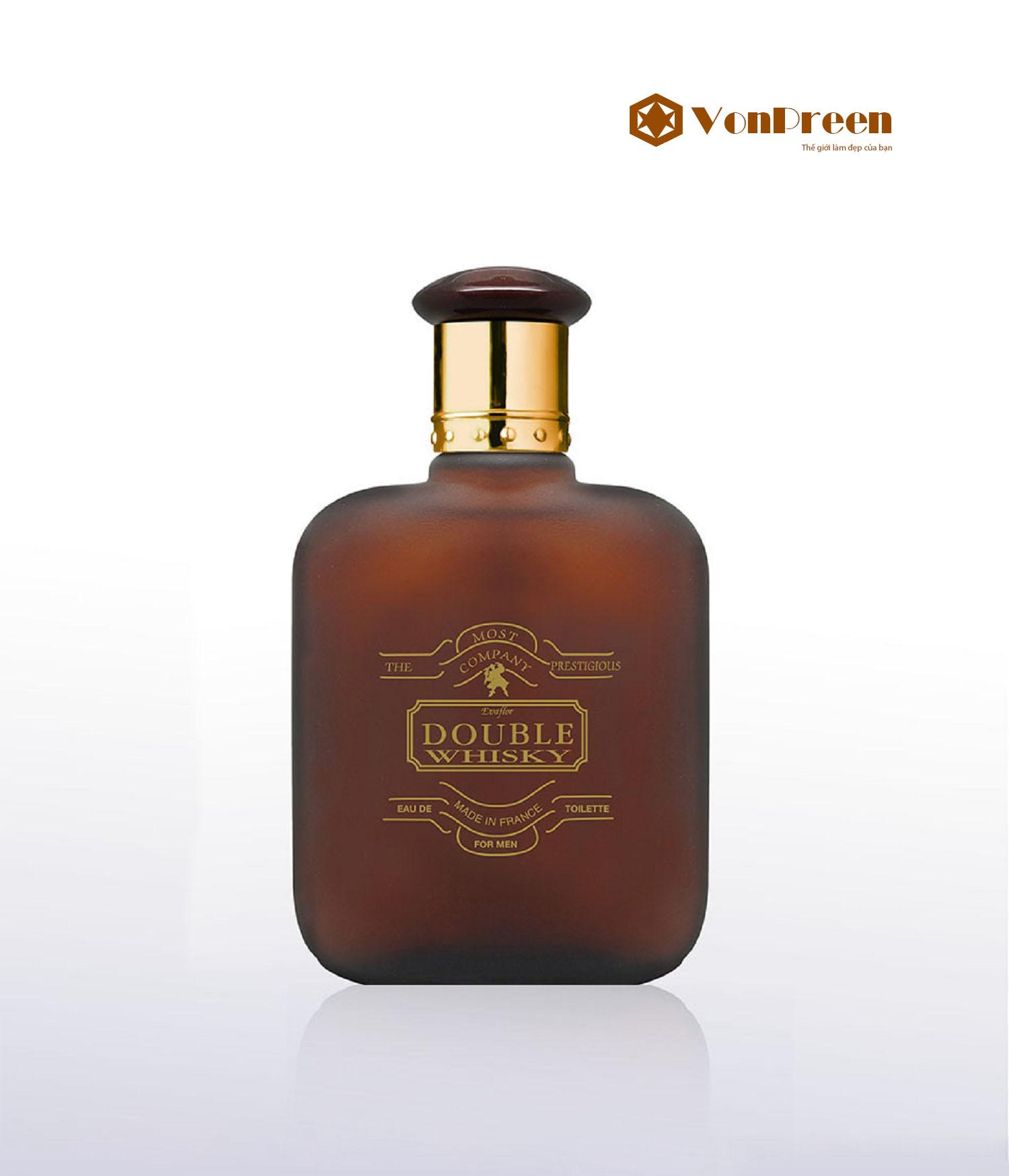Nước Hoa Double Whisky 50ml, hương thơm gỗ hoa cỏ xạ hương, Nam tính, độc đáo, sang trọng