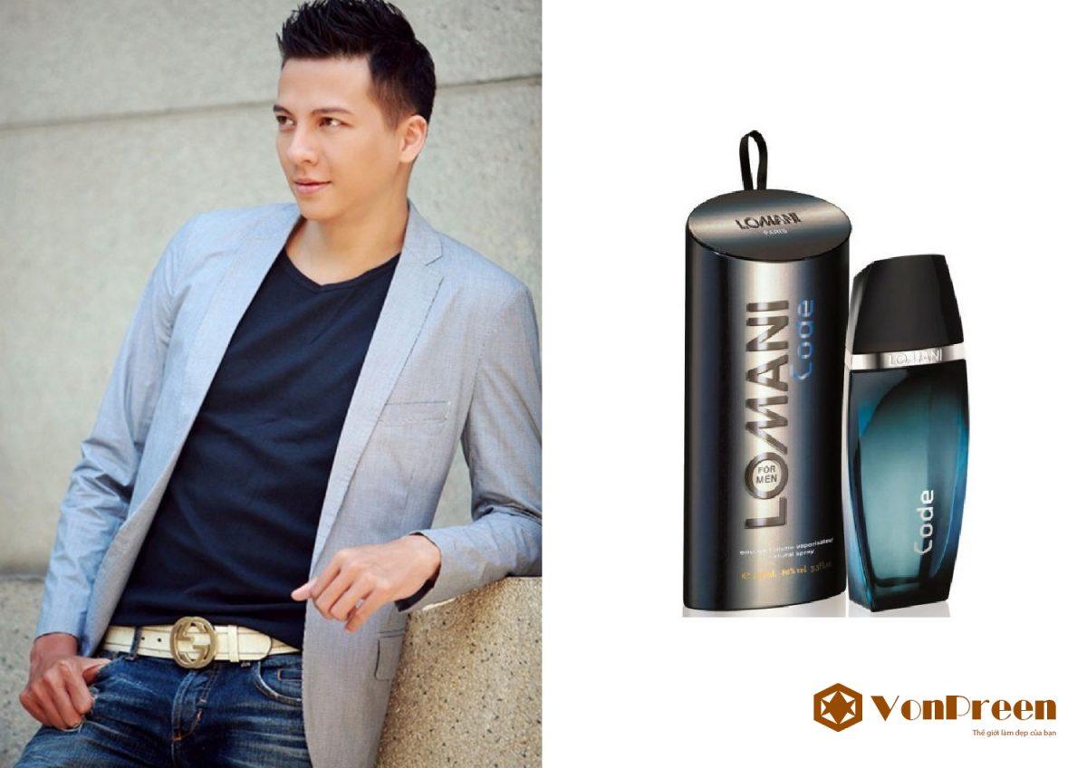 Lomani For Men Code, Nước Hoa Nam 100ml, chính hãng, hương gỗ, Nam tính, quyến rũ, mạnh mẽ