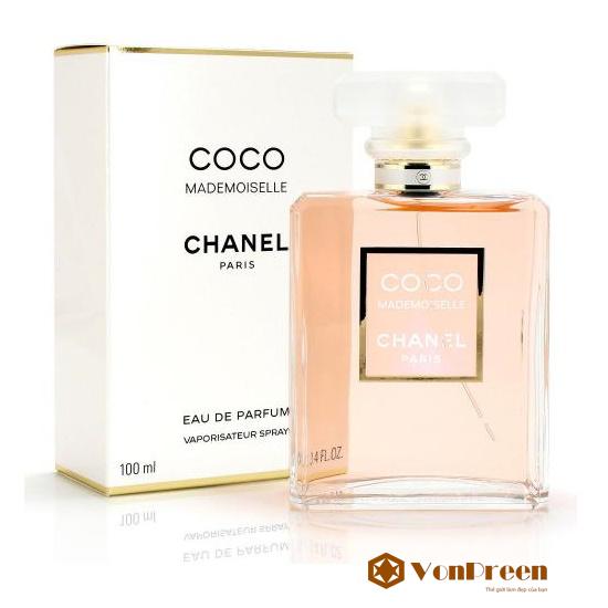 Nước hoa Coco Mademoiselle 100ml, nước hoa Pháp, mang đến hương thơm thanh lịch, quyến rũ cho phái đẹp.