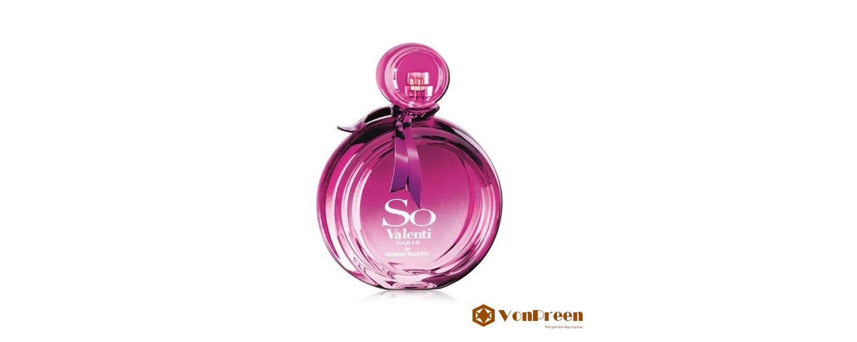 Nước hoa nữ So Valenti Paris, Giorgio Eau de Parfum 100ml, nồng nàn lãng mạn, giữ mùi thơm lâu