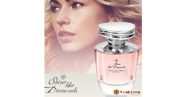 Nước hoa nữ Shine, Like Diamonds–Kristel Saint Martin Eau De Parfum 100ml nhẹ nhàng, tinh khiết