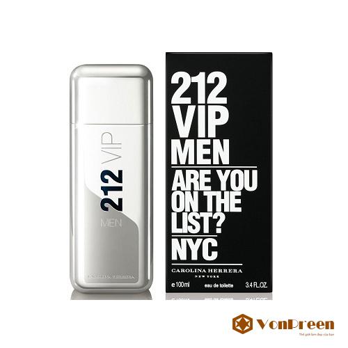 Nước Hoa 212 VIP For Men 100ml, Nam tính, mạnh mẽ, sang trọng, cuốn hút, lịch lãm