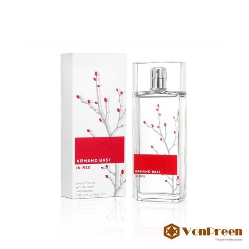 Nước hoa Armand Basi In Red Women 100 ml, mang đến hương thơm sang trọng, thanh lịch, quyến rũ.